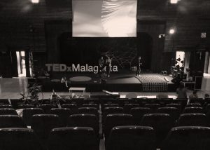Assembly day of the scenography TedxMalagueta